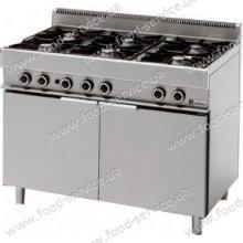 Плита газовая 6 конфорочная с духовкой MODULAR 65-110 CFGG
