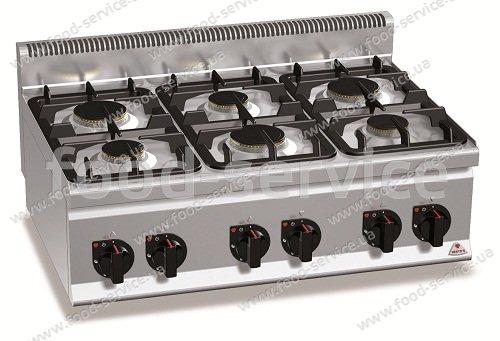 Плита газовая 6-ти конфорочная настольная Bertos G6F6B