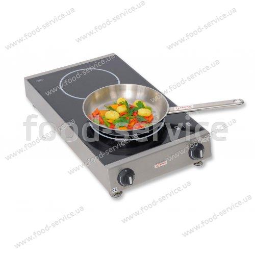 Индукционная плита двухсекционная настольная Berner BI2SK3.5