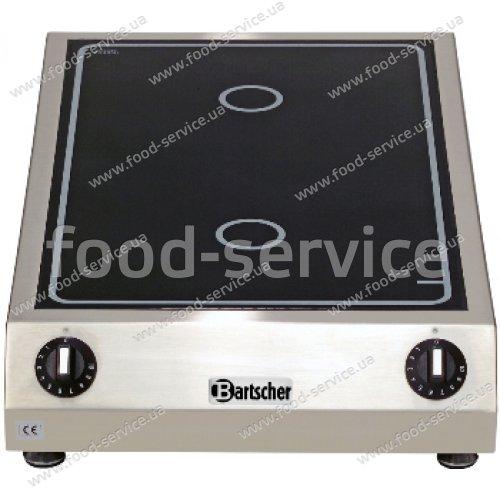 Индукционная плита двухсекционная  настольная Bartscher A105956