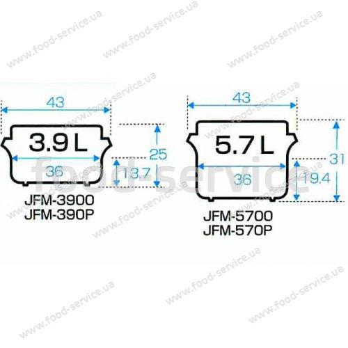 Термос для риса TIGER JFM-570P 5,7кг