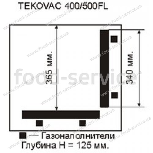 Вакуумная машина TEKOVAC 400/500 угловая запайка
