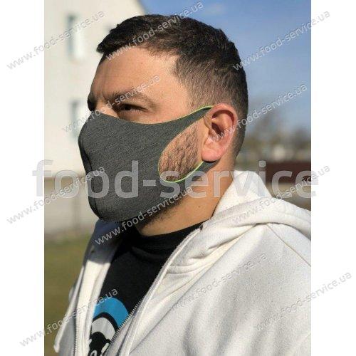 Маска защитная для лица многоразовая темно-синяя