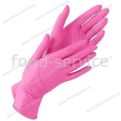 Перчатки нитриловые для HoReCa Pink 100шт.